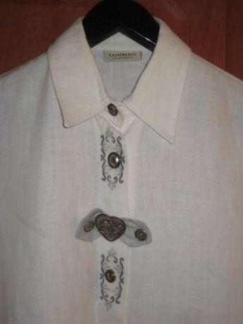 Рубашка женская с вышивкой Натуральный лен 48-50р