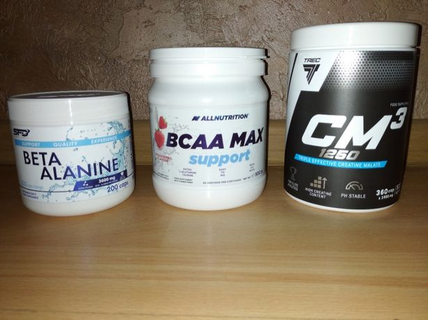 Kreatyna CM3 1250, BCAA Max support truskawka, Beta alanina
