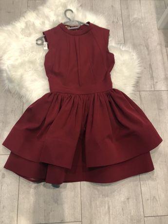 Sukienka bordowa r.36 S