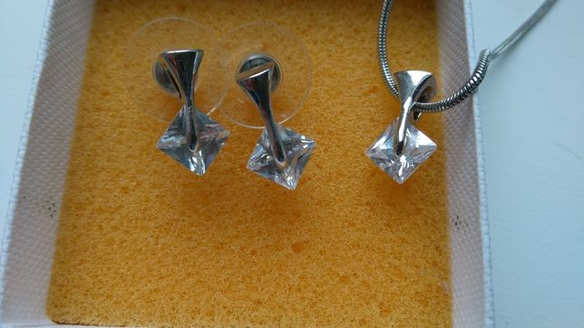 Сережки и цепочка с кулоном продам