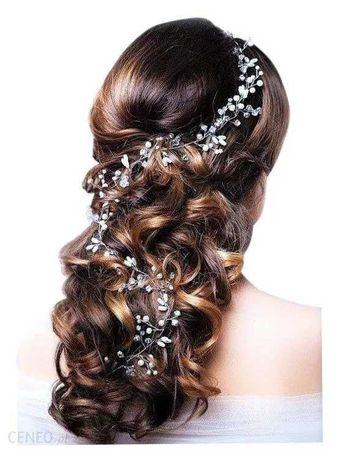Ozdoba do włosów ślub gałązka długa nowa