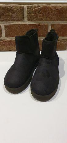 Czarne śniegowce buty rozm. 36