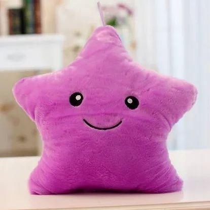 Мягкая подушка с подсветкой. Игрушка на подарок. Цвет фиолетовый. Цена