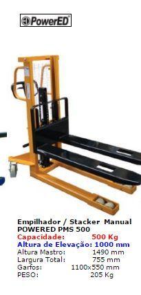 PMS 500 Stacker Manual até 500 kgs Powered Novo