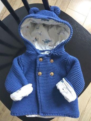 Ciepły sweterek niemowlęcy Mark & Spencer 0-3 m-ące