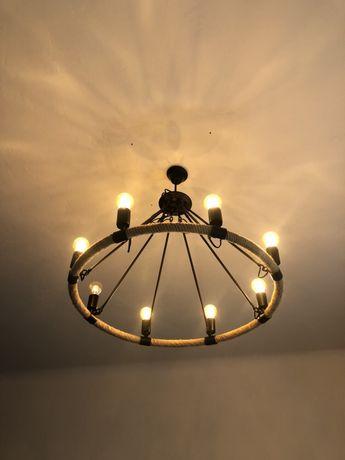 Żyrandol, lampa wisząca wraz z żarówkami