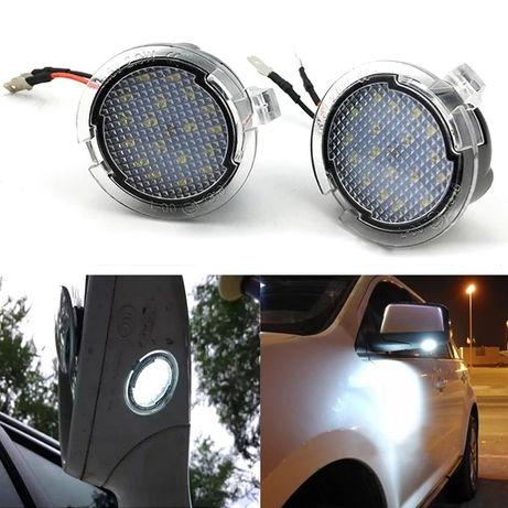 Штатная LED подсветка боковых зеркал и двери для Ford Edge Fusion