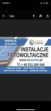 Fotowoltaika kompleksowe instalacje, panele słoneczne. Rabat - 1000 zł