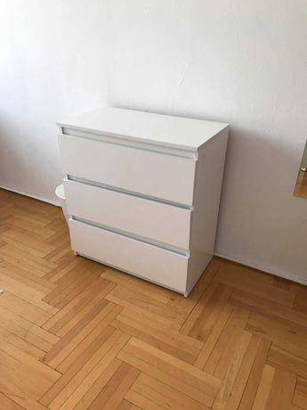 Nowoczesna Komoda Biała styl IKEA MALM 6 szuflad 3 szuflady