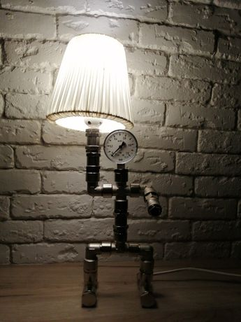 Lampa, lampka nowoczesna na biurko, komodę z kształtek hydraulicznych