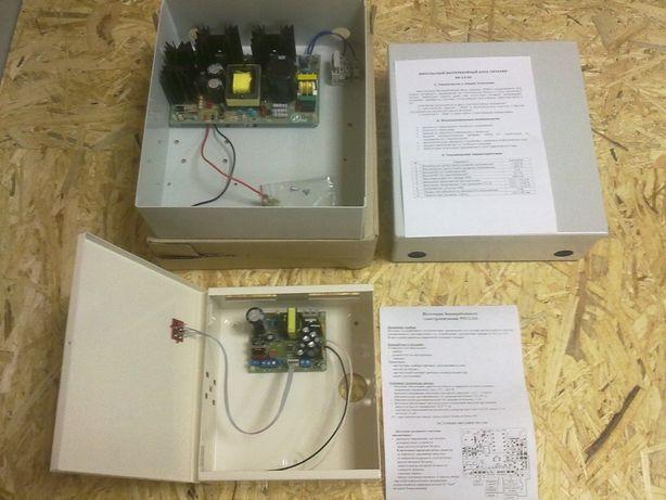 Блок питания ББП для питания видеокамер 12В 5А в металлическом корпусе