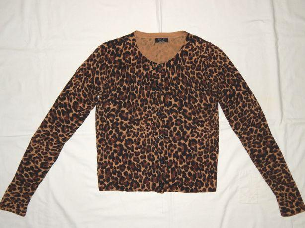 Трикотажная кофта M&Co леопардовой расцветки. 11-12 лет.