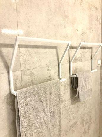 Wieszak łazienkowy metal biały/ Simon white