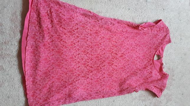 Dziewczęca różowa letnia sukienka 158/164cm.