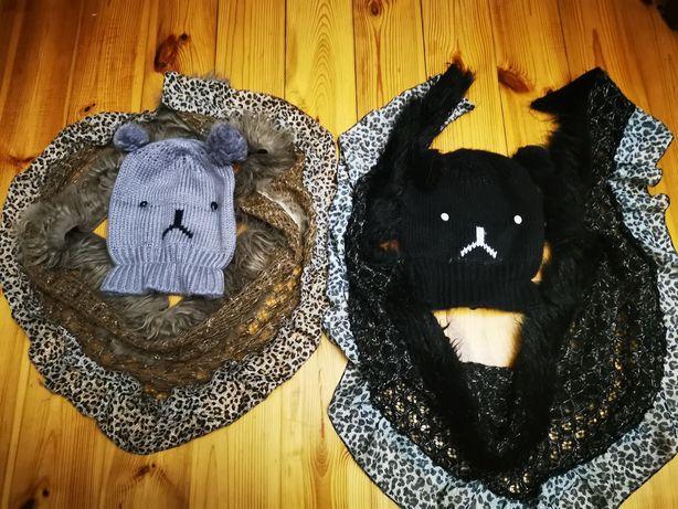 Komplet czapka i chusta