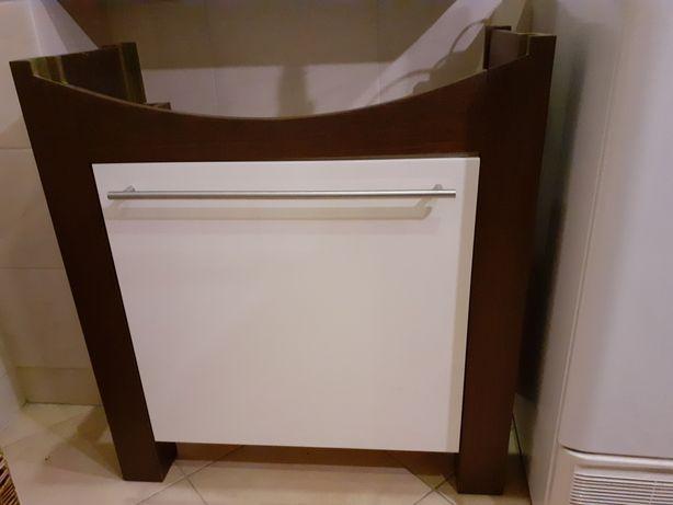 Szafka pod umywalkę umywalkowa Aplauz Koło 80 cm. Lustro łazienkowe
