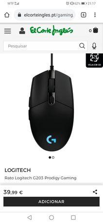 Rato Logitech G203 Prodigy Gaming