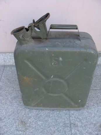 kanister duży 15 l wojskowy zielony zabytkowy stal wp prl wysyłka
