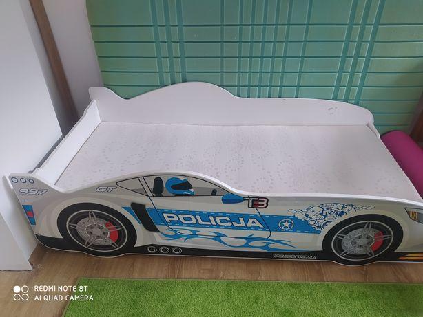 Łóżko samochód policja plus materac