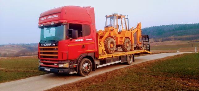 Transport drogowy niskopodwoziowy maszyn budowlanych do 9 t HDS