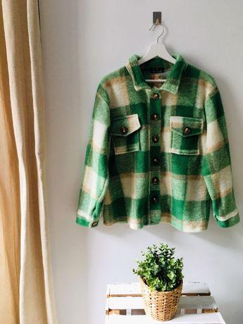 Koszula w kratkę, zieleń