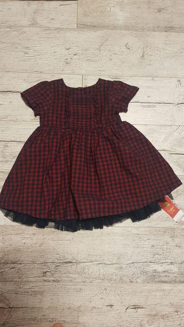 M&S Nowa śliczna okazjonalna sukienka r 80