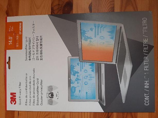 Filtr prywatyzujący do laptopa 14 cali (Złoty 3M GPF14.0W9) NOWY