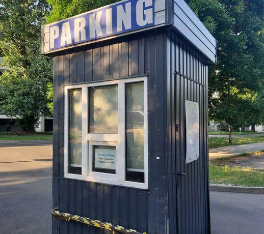 Budka parkingowa, domek narzędziowy, stróżówka