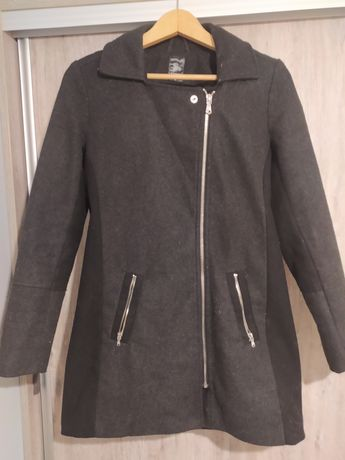 Szary płaszcz wiosna jesień sinsay M