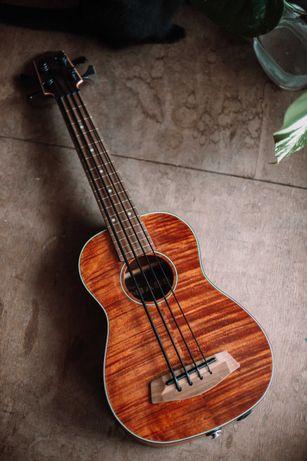 Ukulele basowe Kala U-Bass Exotic Mahogany FL