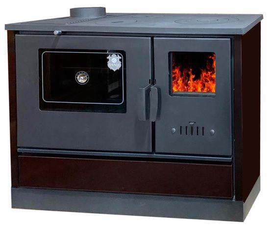 Дровяная печь кухня, камин, «евро буржуйка» DUVAL ЕК-4020. АКЦИЯ!
