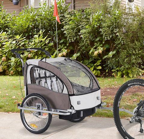 Przyczepka rowerowa jogger amortyzowana 2w1  Riksza wózek dla dzieci