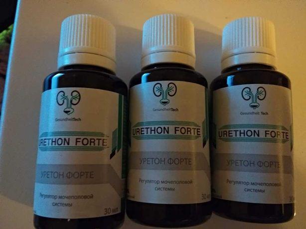 Набор 3 шт. Urethon Forte Уретон Форте для простаты и почек биодобавка