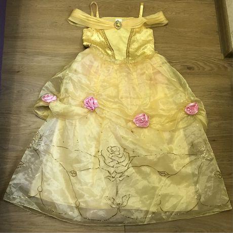 Карнавальное платье принцессы Бель на 9-10 лет Disney