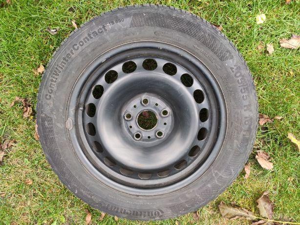 Koła stalowe (nowe felgi + zimowe opony) Continental 205/55 R16 OKAZJA