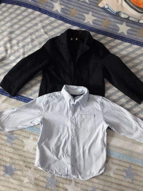 Marynarka chłopięca rozm. 116+koszula