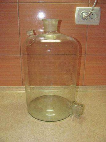 Бутыль Вульфа 10л, с нижним и верхним тубусом.
