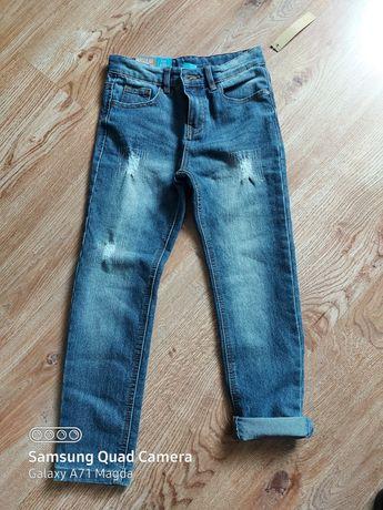 Nowe spodnie 128cm jeansy proste