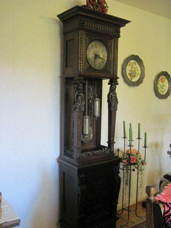 zegar stojacy kienzle XIX wiek 1899 rok figuralny unikat antyk
