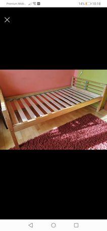 Łóżko drewniane brzozowe pojedyncze