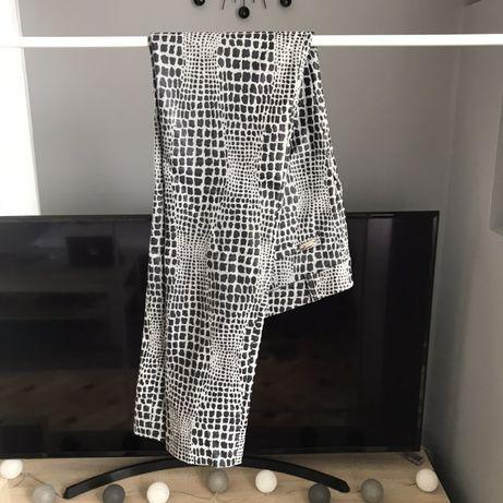 spodnie elaganckie szare czarne centki panterka
