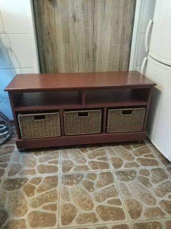 Szafka,komoda z półką,koszami wiklinowymi,na buty,pod Telewizor,TV