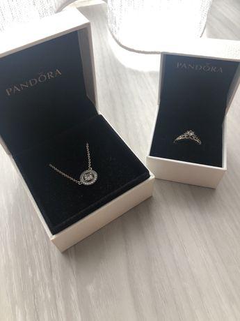 Conjunto anel e fio Pandora