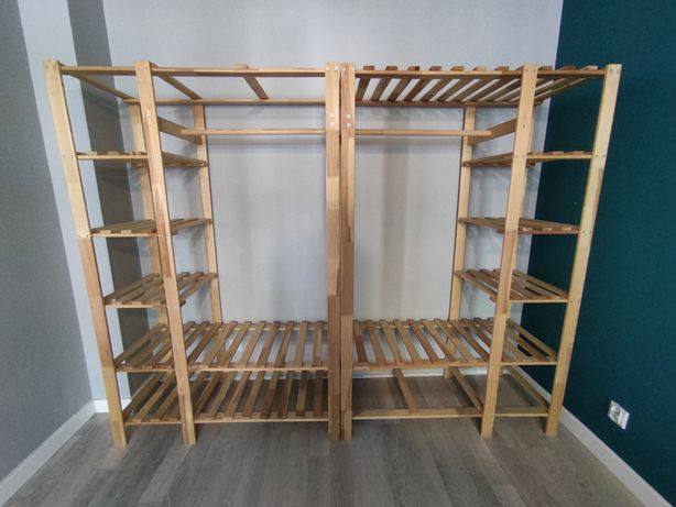 Szafa garderoba drewno sosnowe 2x 170x110x50