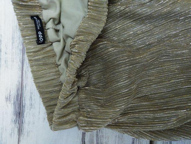 Spódnica w kolorze starego złota
