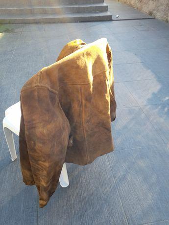 Casaco de couro para soldador