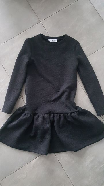 Sukienka sugarfree xs czarna z falbanka