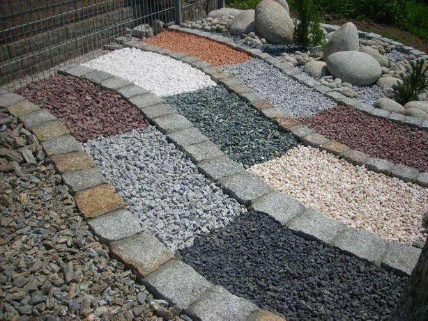 Grys Granitowy ogrodowy ozdobny dalmatyńczyk na ogród kamień do ogrodu
