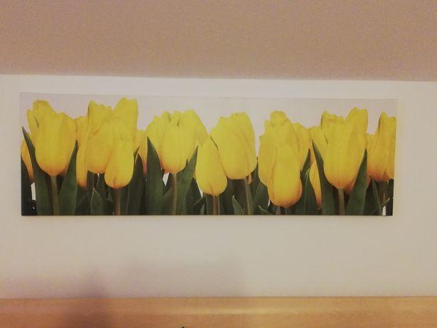 Ozdoba  na ścianę żółte tulipany