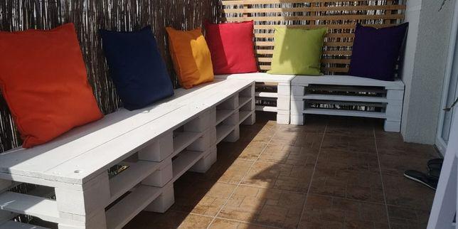 4szt Komplet Wypoczynek z Palet Palety Meble Ogrodowe Balkon